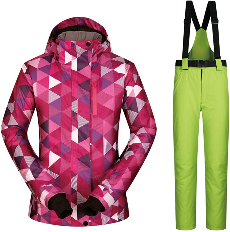 Carriemeow Women's Mountain Ski Jacket Waterproof Windproof Warm Winter Raincoat (color   08, Size   XL)