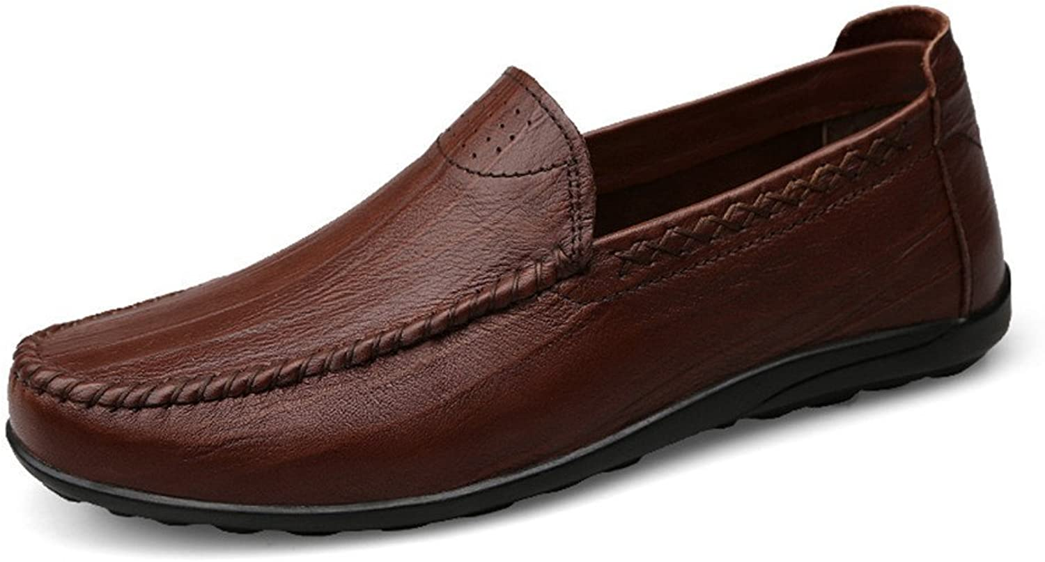 Men's Driving Loafer Casual and Refreshing Premium Genuine Leather shoes with Soft Soles are Not Slippery Boat Moccasins
