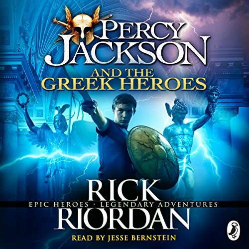 Percy Jackson and the Greek Heroes audiobook cover art