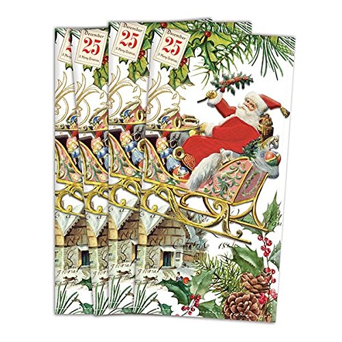 Michel Design Works FNAP274 Turkish Cotton Dinner Napkins, Christmas Joy