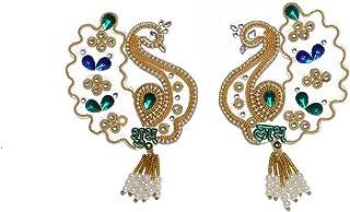 Aditri Creation Peacock Shubh labh Sticker Diwali DecorationRangoli/Home Décor//Gift for Home/Interior Handcrafted/Floor S...
