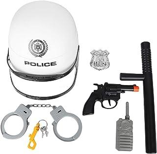 Amosfun 6 PCS Manganello della Polizia Ufficiale Costume per I Bambini Costumi Ragazzi Manette Cinghia Accessori- Polizia ...