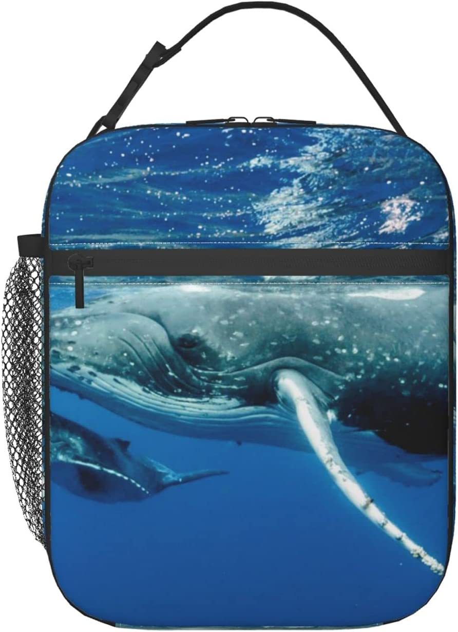 Whales Pacific Ocean Lunch Box 55% Brand new OFF Small Durable Insulated Bag