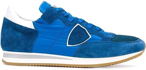 Philippe Model Hombre TRLUW113 azul Gamuza Hauszapatos
