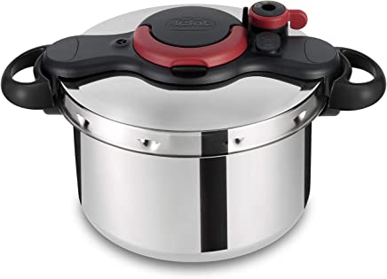 Tefal Clipso MEasy PressureCooker 9 liter Stainless Steel, P4624966 Silver