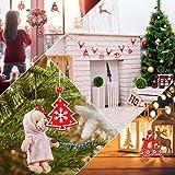 Camelize Stück Holz Weihnachten Deko Weihnachten Holzanhänger Weihnachstbaum Schmuck Natürlicher Christbaum-Behang für Weihnachten Geschenke DIY Handwerk Basteln - 3