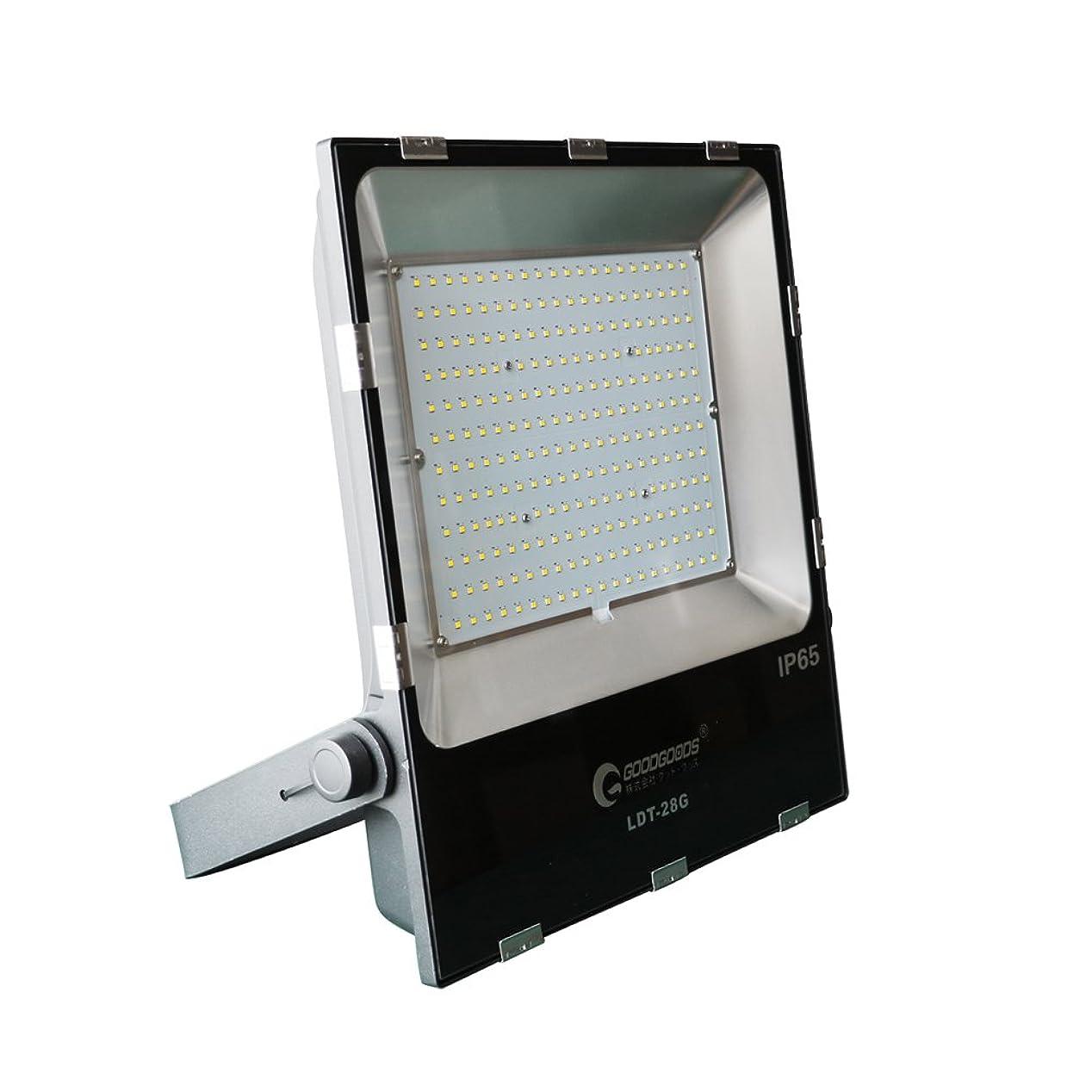 郵便屋さん何でも不器用GOODGOODS LED 看板灯 200W 2000W相当 28000LM 極薄型 投光器 昼光色 広角120度 防水 LEDライト 屋外照明 LDT-28G