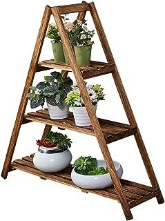 Plant Stand Indoor, Outdoor 3 Tiered Corner Wood Plant Shelf Rack,Flower Pot Stand Holder Display Rack for Patio Garden Balcony Yard,Plant Ladder with Shelves, A Framed Bookshelf, Utility Storage Rack