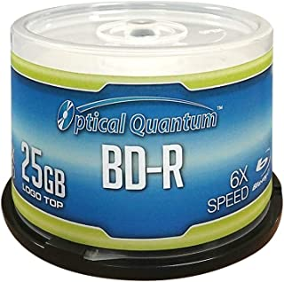 Optical Quantum OQBDR06LT-50 6X 25GB BD-R Single Layer Blu-Ray Recordable Blank Media..