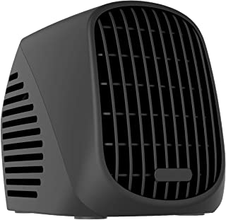NEXGADGET Mini Space Heater, 500W Portable Ceramic Heater for Office Home Dorm Tabletop, Ultra Quiet Desktop Heater with Turbofan Technology, Overheat Protection-Black