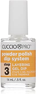 Cuccio Pro Powder Polish Dip System, Step 3 Layering Gel Dip, 0.5 Ounce