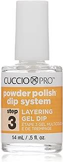 Cuccio Pro Powder Polish Dip System, Step 3 Layering Gel Dip, 0.5 Ounce
