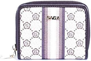 Saga Leather Card and ID Cases for Unisex , White