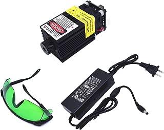 TXINLEI 2.5W 2500mW 445nm TTL PWM Control Blue Laser Module, DC 12V Focal Adjustable Laser Head with Heatsink for DIY Laser Engraver Machine