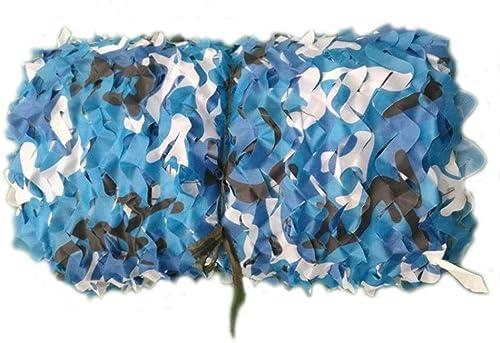 Qjifangzyp Décoration De Jardin Filet écran Solaire Filet Bleu Camouflage Filet Oxford Auvent en Toile Couverture De Voiture Prougeection Militaire Filet Déguisement Tente Photographie Tente 2x3m 4m 5m