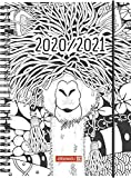 "BRUNNEN 1072150191 ""ZENart"", Wochenkalender/Schülerkalender 2020/2021, 2 Seiten = 1 Woche , Blattgröße 14,8 x 21 cm , A5 , PP-Einband"