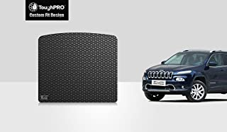 ToughPRO Cargo/Trunk Mat Compatible with Jeep Cherokee - All Weather - Heavy Duty - (Made in USA) - Black Rubber - 2014, 2015, 2016, 2017, 2018, 2019, 2020