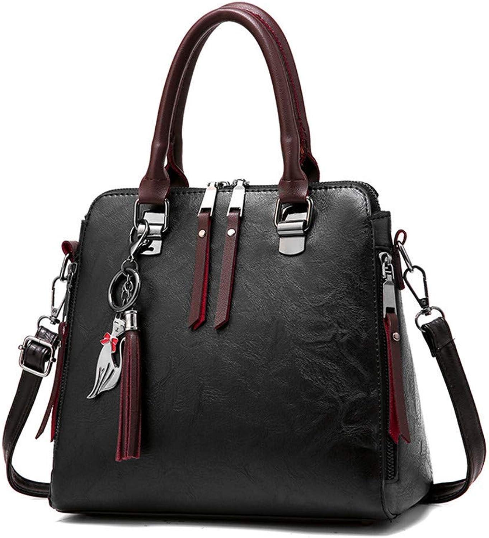 c8c6837b3 Ladies Handbag Bag Vintage Leather Ladies Handbags Women Messenger Totes  Crossbody Shoulder Boston Hand, Brown