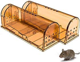DRALO 2 stks/set Humane Muis Trap, Muis Vallen voor Indoor Outdoor, Dier Eco Vriendschappelijke en Herbruikbare Knaagdier ...