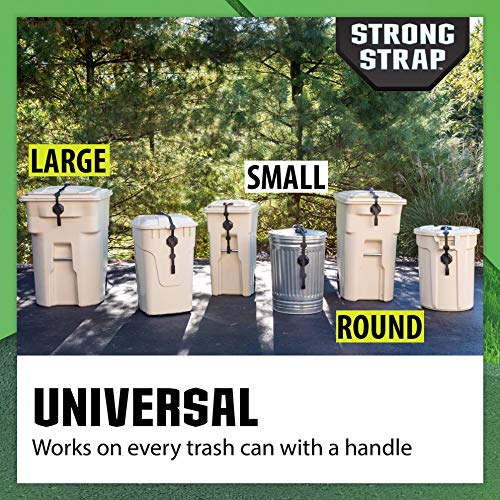 Strong Strap - Universal Garbage Can Lid Lock Utility Strap