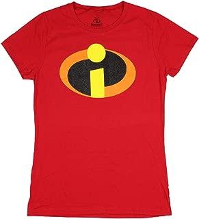 Disney Pixar The Incredibles Glitter Logo Juniors T-shirt