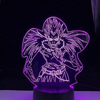 Death note enfants veilleuse LED pour éclairage veilleuse pour décoration de chambre manga japonais faire illusion lumière...