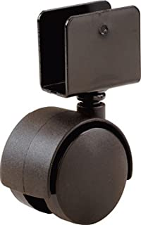 Shepherd Hardware 9420 1-5/8-Inch Office Chair Caster, Twin Wheel, 11/16-Inch U-Bracket, 40-lb Load Capacity, 2-Pack