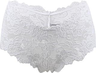 1562d63af Oliveya Womens Plus Size Boyshort Panties Lace Underwear Briefs Lingerie  Thong