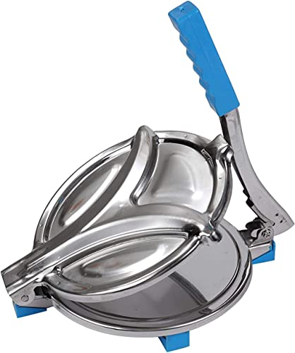 PARATPAR MALL Heavy Quality Puri Maker Manual Stainless Steel Chapati Press Chapati Maker Roti Maker With Fitted Handle Large For Kitchen Nearly 6 Inches Working Diameter
