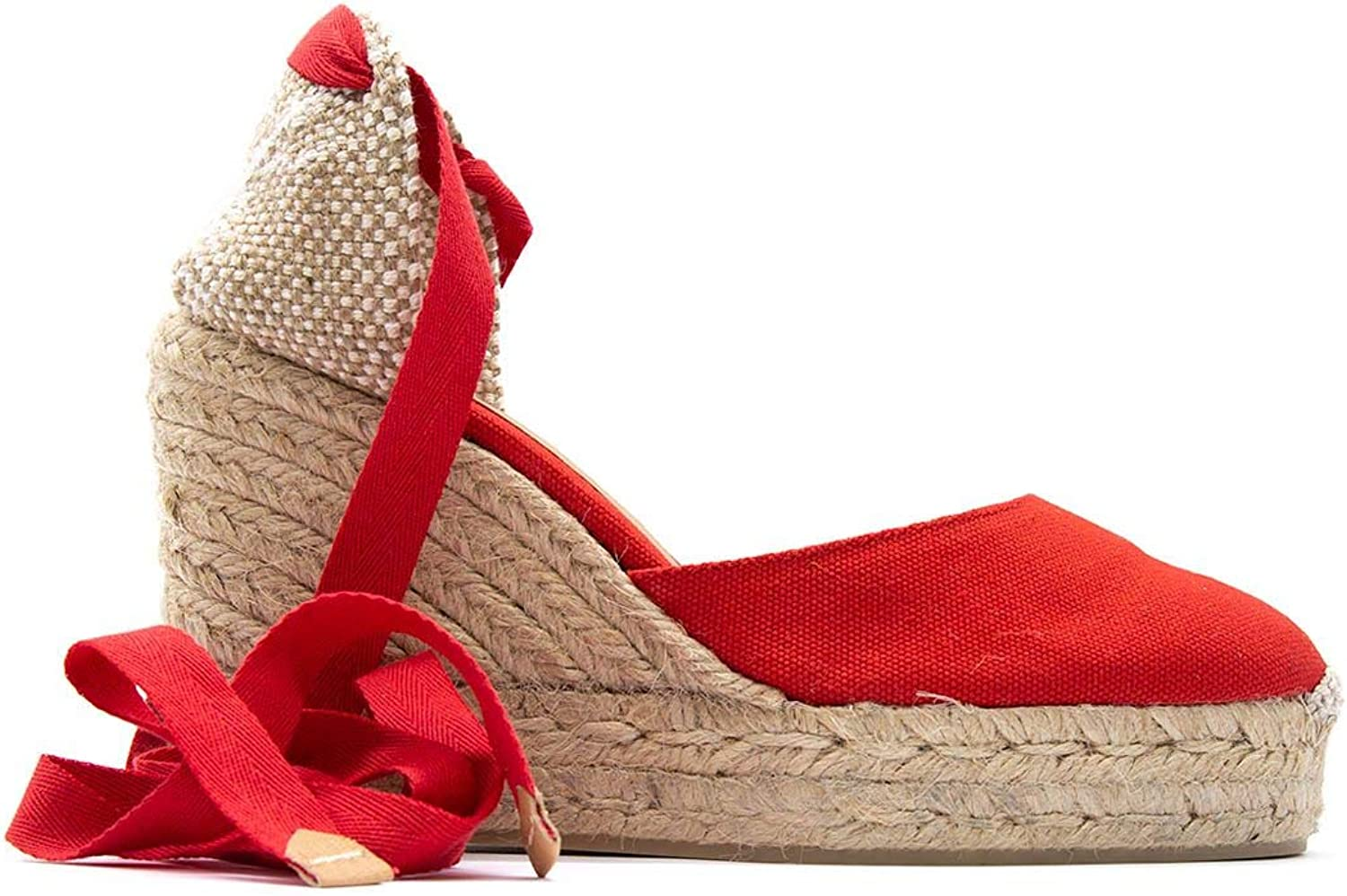 Castaner Women's CARINA502redRUBI Red Other Materials Wedges