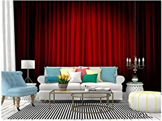 SKIWAMural Self Adhesive Wallpaper Roll Paper Spotlight on Stage Curtain Theatrical Drapes Vector Removable Peel and Stick Wallpaper Decorative Wall Mural Posters Home Covering Interior Film