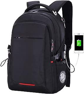 GLJ Backpack Men's Business Casual Travel Laptop Bag Backpack (Color : Black, Size : L)