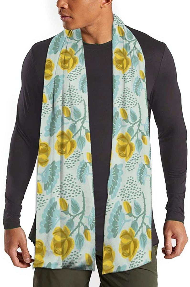 Yellow Rose Scarfs – Imported Lightweight Neckwear Blanket Wrap Winter Shawl