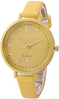 ETbotu Women Roman Numeral Quartz Watch with Thin Watchband Simple Wrist Watch Ornament Gift