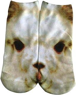 Calcetines Unisex 3D Imprimir Perro Calcetines Con Invisibles Patrón Moda Ropa festiva Casual Deporte Calcetines Cortos Niños Cómodos Calcetines Invisibles