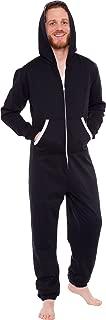 Men's Hooded Jumpsuit - Zip Up One Piece Pajamas