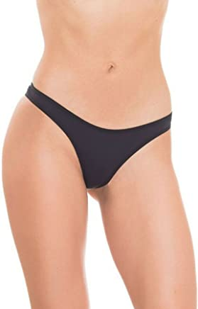 da2e1267317a GB Intimates Black Hipster Brazilian Underwear V Cut Panty Cheeky Panties  for Women Tanga (Small