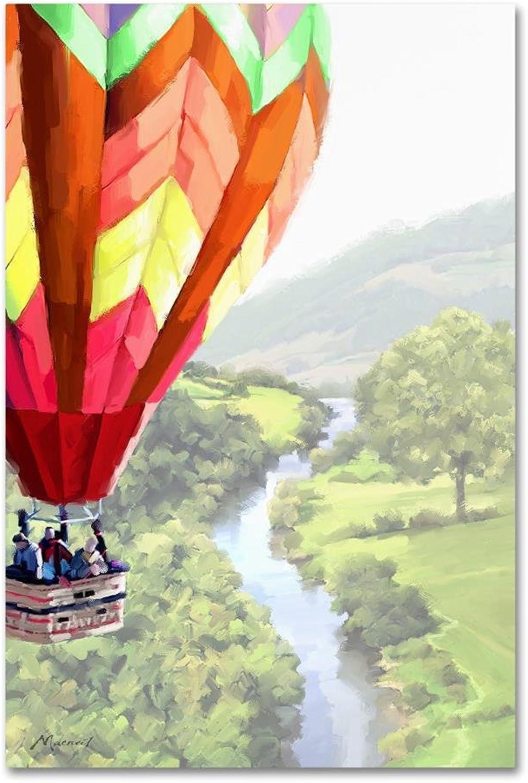 Trademark Fine Art ALI09692C1219GG Hot Air Balloon 2 by The Macneil Studio 12x19 Canvas Wall Art