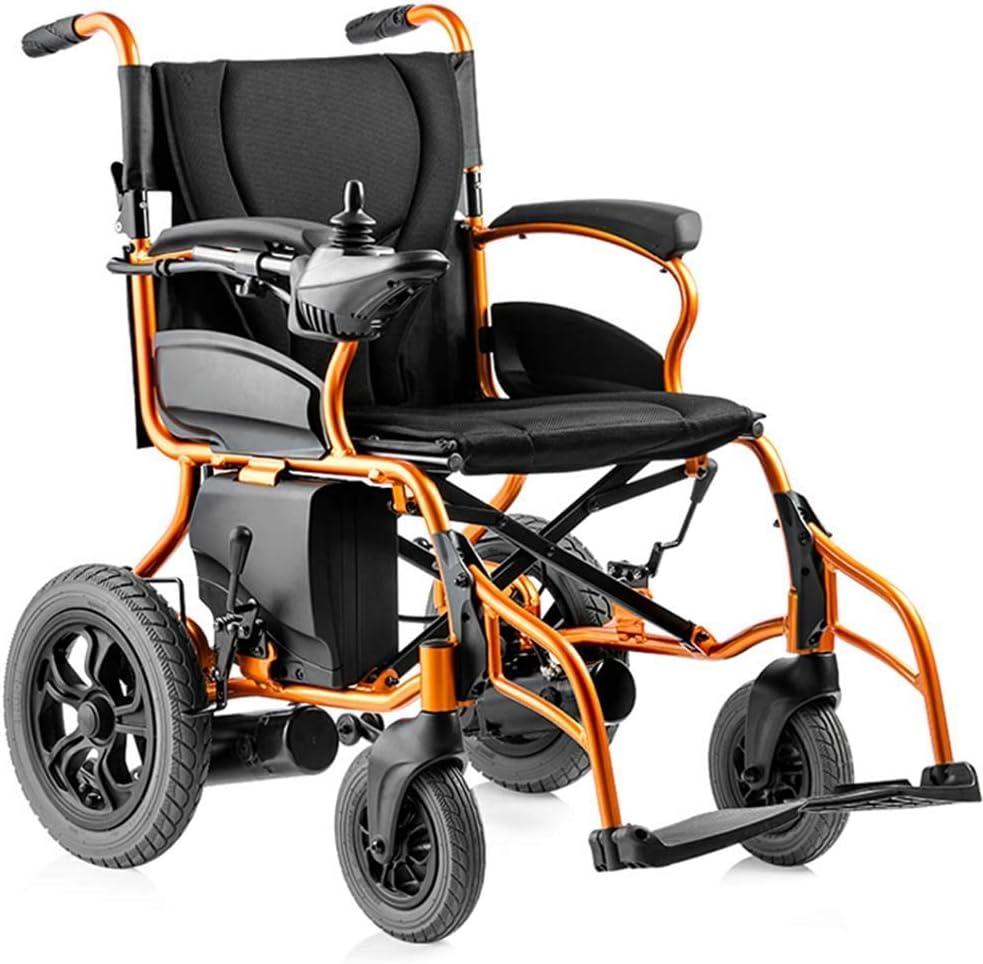 GAXQFEI Silla de ruedas eléctrica, plegable silla de ruedas ligera, inteligente silla de ruedas eléctrica automática, Anchura del asiento 44 cm, Capacidad de carga 120 Kg