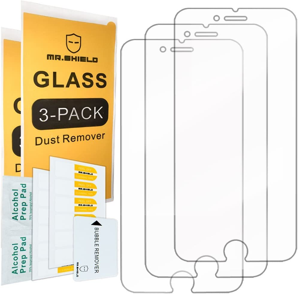 [3-PACK]- Mr.Shield Designed For iPhone 8 / iPhone 7 [Tempered Glass] Screen Protector [Japan Glass With 9H Hardness] with Lifetime Replacement