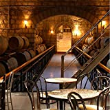 Wuyyii Fototapete Europäischen Weinkeller Tapete Ktv Bar Restaurant Industrie Lounge Halle Dekoration Bier Tasse Tapete Wandbild-200X140CM
