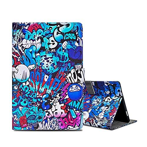 ONETHEFULCustodiaLibroCoverperApple iPad 9.7' 2017 2018 / iPad Air 2013 / iPad Air 2 2014TabletCustodieProtettivaCoversconStandePUPelle-Graffiti