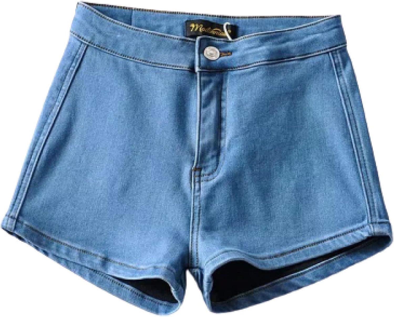 Ladies Denim Shorts Summer European and American High Waist Fashion Sexy Slim