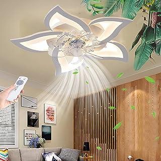Ventilateur de plafond avec éclairage Dimmable LED Plafonnier Télécommande Moderne Silencieux Plafonnier Bureau Chambre Sa...