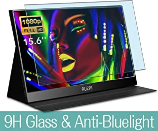 """Synvy Anti Blue Light Tempered Glass Screen Protector for Auzai ME16Z01 Portable Monitor 15.6"""" Visible Area 9H Protective Screen Film Protectors (Not Full Coverage)"""