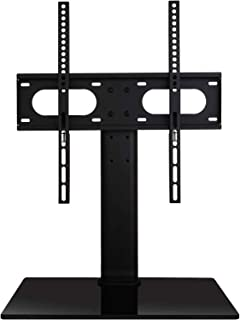 Best WALI Table Top TV Stand with Glass Base and Security Wire Fits Most 32 to 47 inch LED, LCD, OLED and Plasma Flat Screen TV with VESA up to 400 by 400mm (TVDVD-01), Black Review