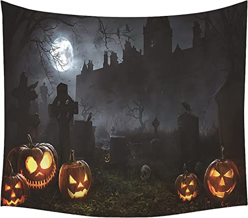 new arrival Creepy Halloween Tapestry Tapestry Wall Hanging, Scary Halloween Scenes sale Tapestry Wall Art for Teen Kids Bedroom Living Room Halloween Party Decor, 60x50 Inches (Style high quality B) online sale