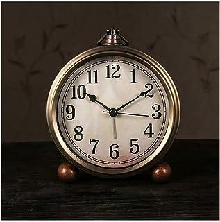 Bracket Clock ساعة الكلاسيكية الرجعية ساعة الذهب ووتش ساعة صامتة ساعة كوارتز حركة زجاج عدسة سهلة القراءة Living Room Deskt...
