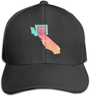 I Love California & Washington Fitted Mesh Trucker Cap