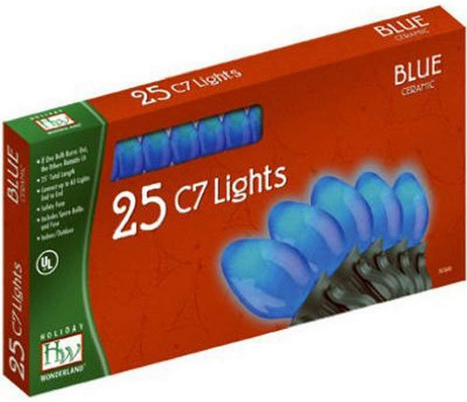 New product!! Outdoor Patio Party Christmas Lights Blue C New Shipping Free Set 25-Count Ceramic